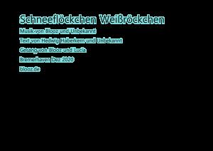 Schneeflöckchen, Weißröckchen – Blooz feat. Lucia